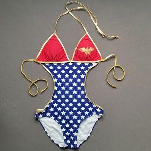 Sexy Wonder Woman One-Piece Swimsuit